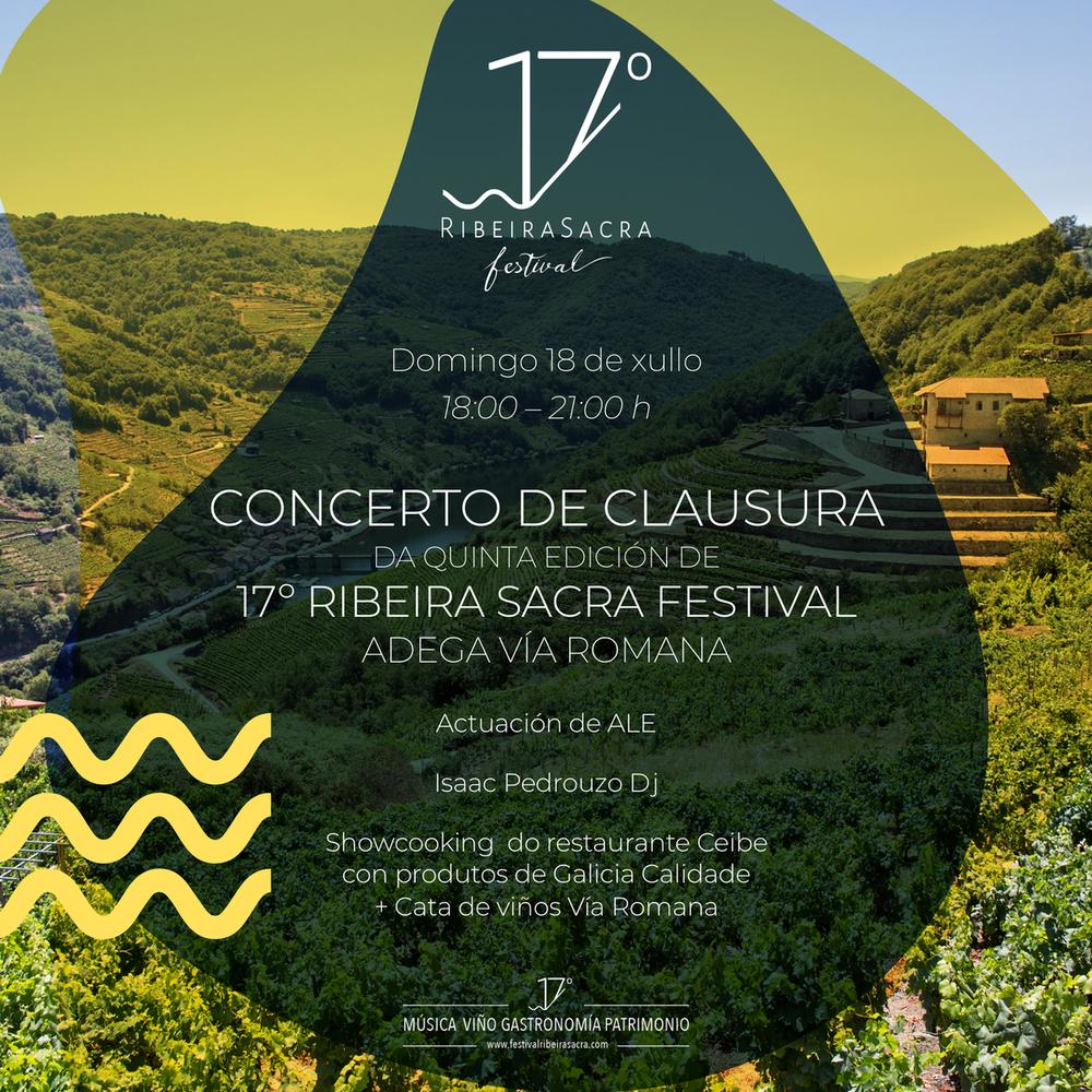 [AFORO COMPLETO] Clausura 17º Ribeira Sacra Festival: Maridaje de vinos y tapas